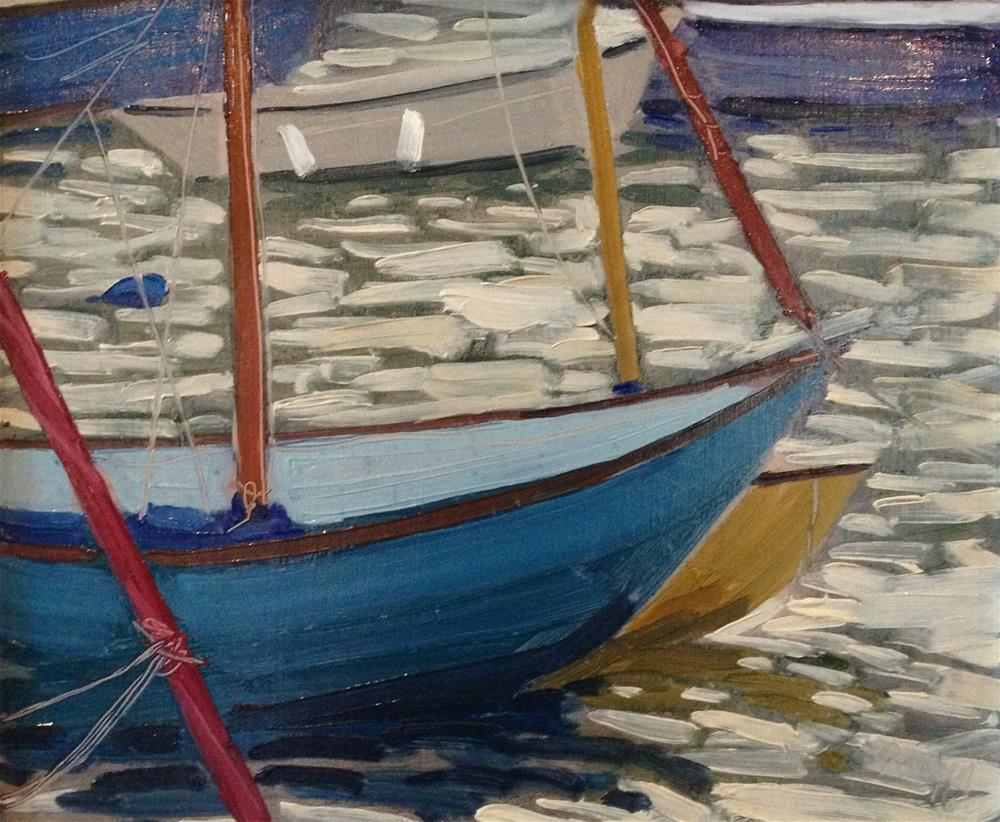 """Dancing Boats Wells"" original fine art by Tanya Pawsey"