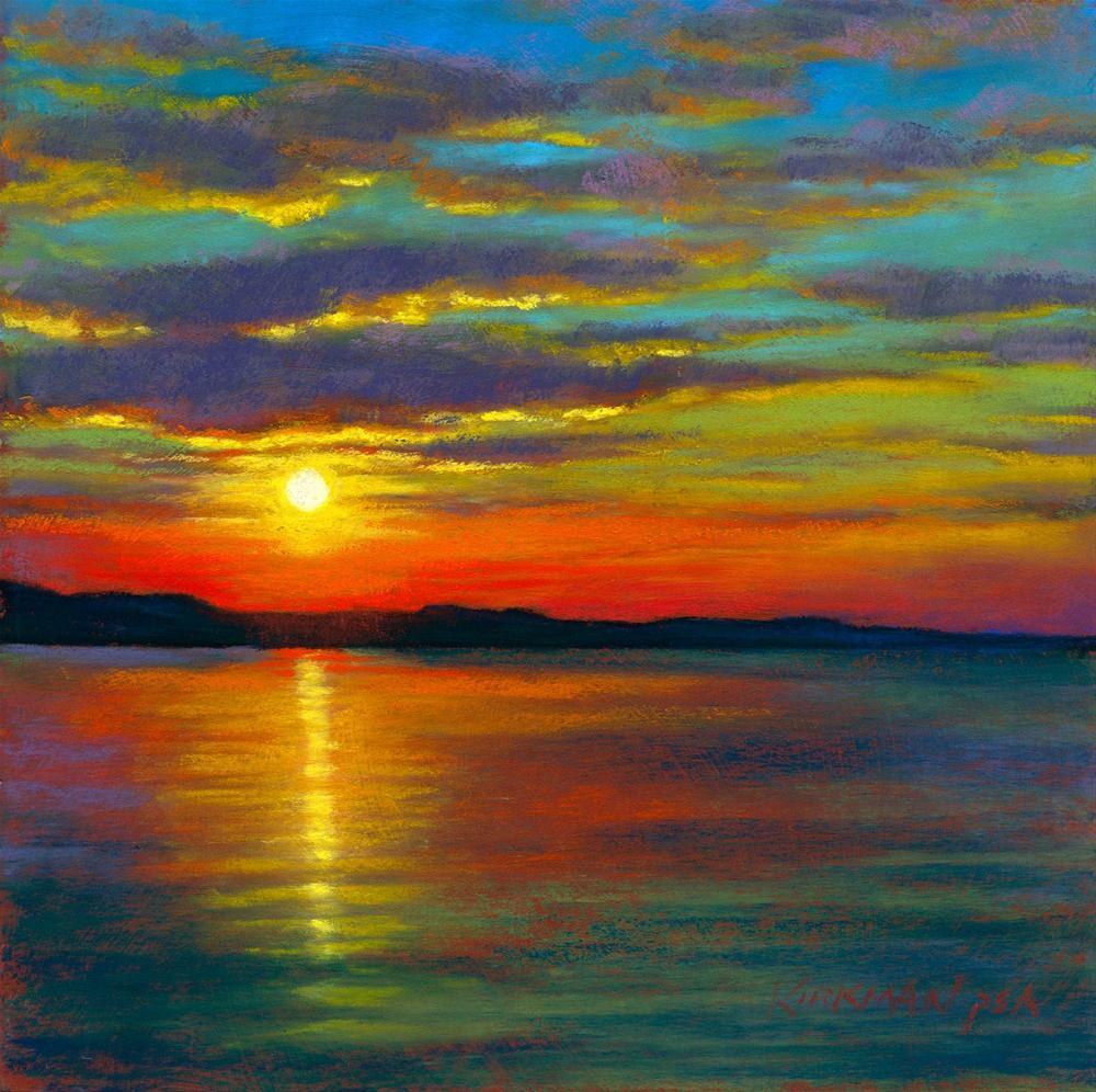 """""""Sunset #51"""" original fine art by Rita Kirkman"""