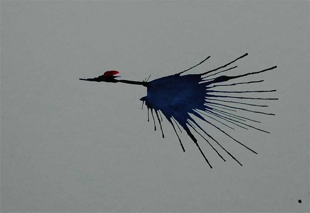 """Crane  - 20"" original fine art by Ulrike Schmidt"