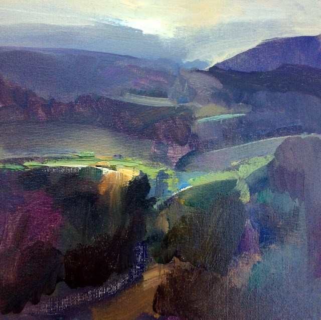 """High Peak Morning"" original fine art by Anne Wood"