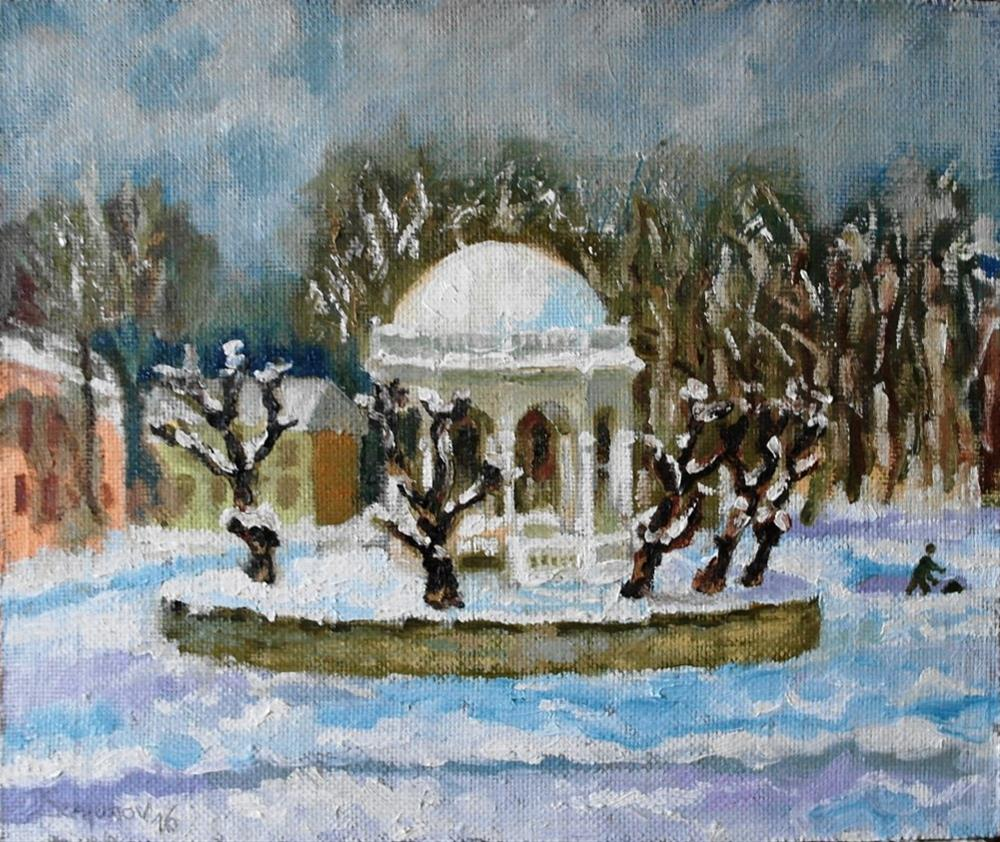 """winter park"" original fine art by Yuriy Semyonov"