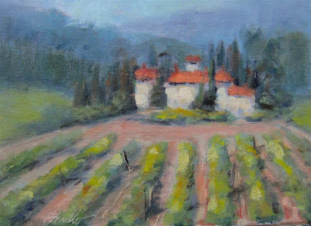 """A little taste of Tuscany"" original fine art by Pat Fiorello"