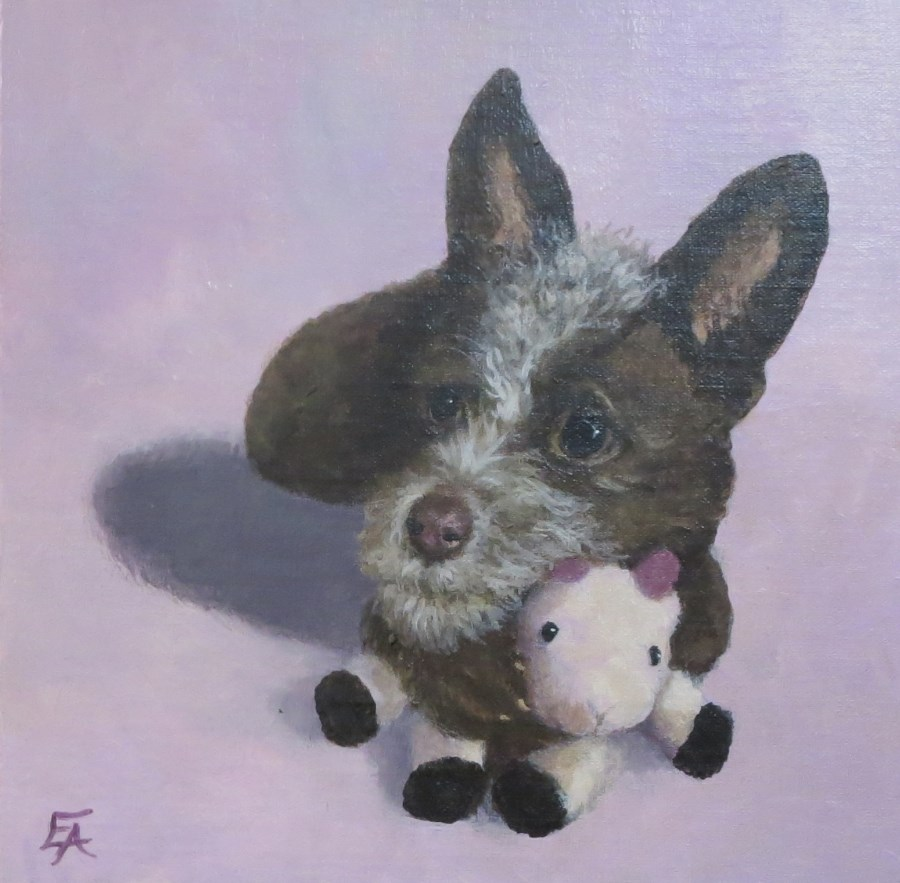 """Stella with Her Goat"" original fine art by Elizabeth Elgin"