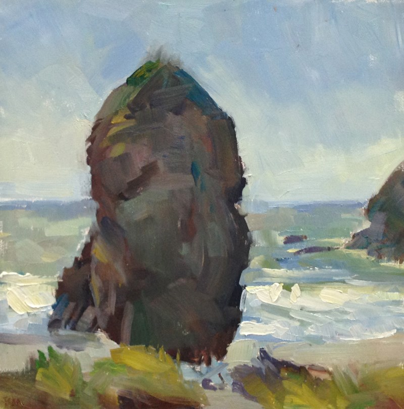 """Pacific Northwest Easter Island"" original fine art by Patti McNutt"