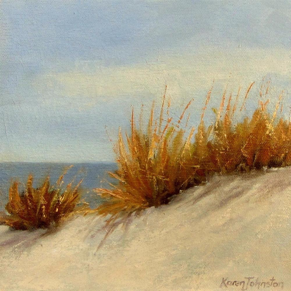 """Golden Dune Grass"" original fine art by Karen Johnston"