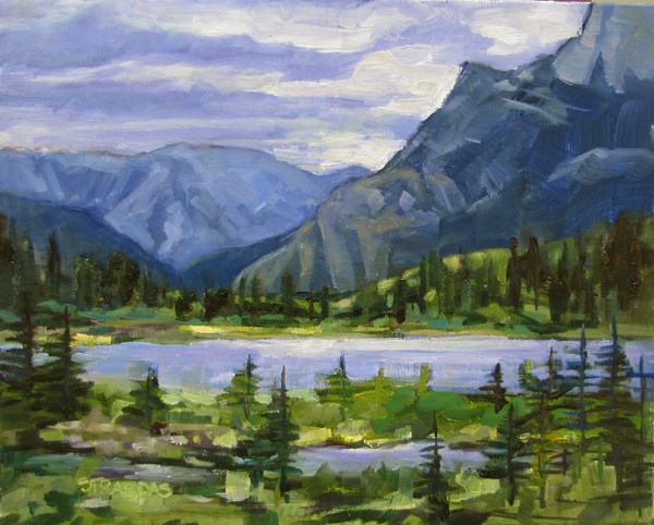"""Vermillion Lake"" original fine art by Marcela Strasdas"