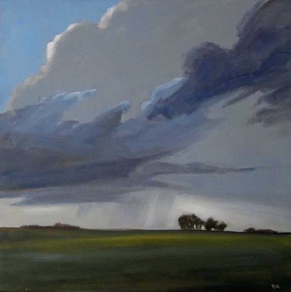 """Moody Prairie"" original fine art by Nicki Ault"