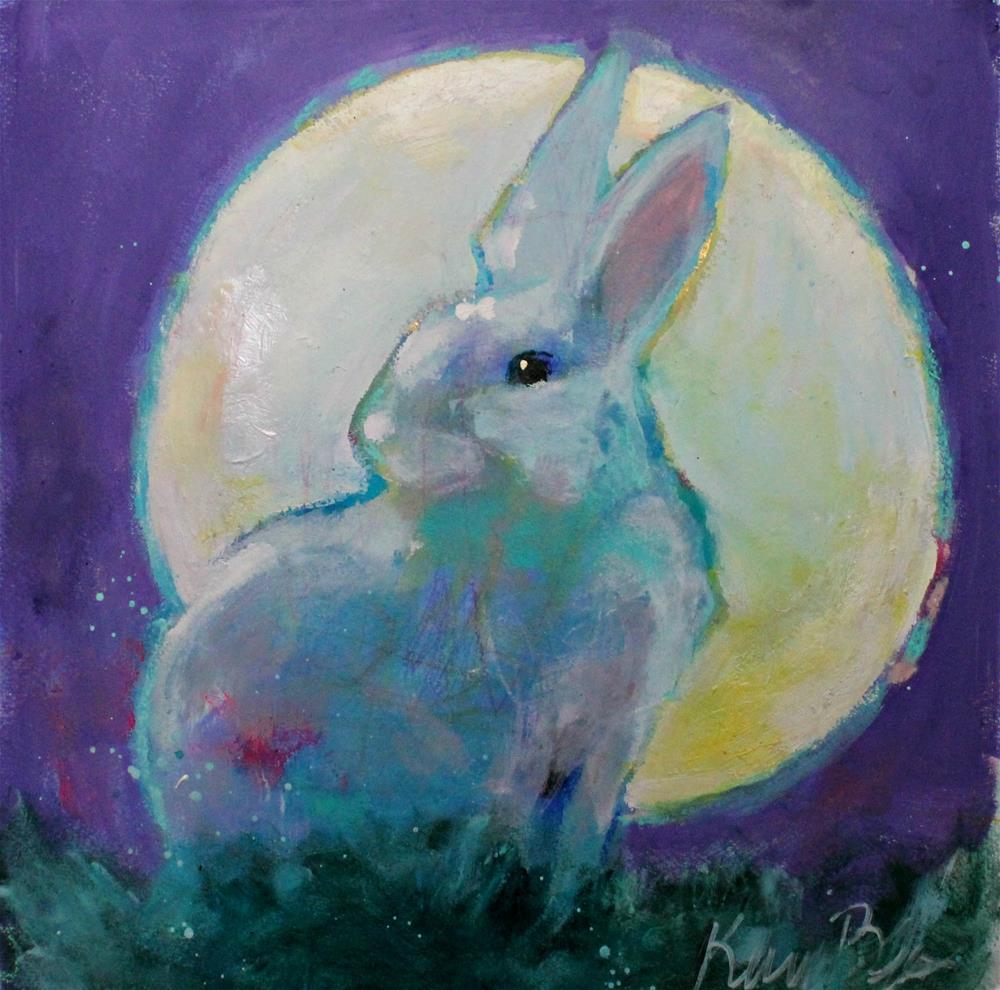 """Sometimes the Moon is Your Halo "" original fine art by Kerri Blackman"