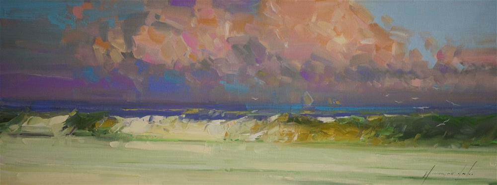 """""""South Bay Original oil Painting on Canvas"""" original fine art by V Y"""