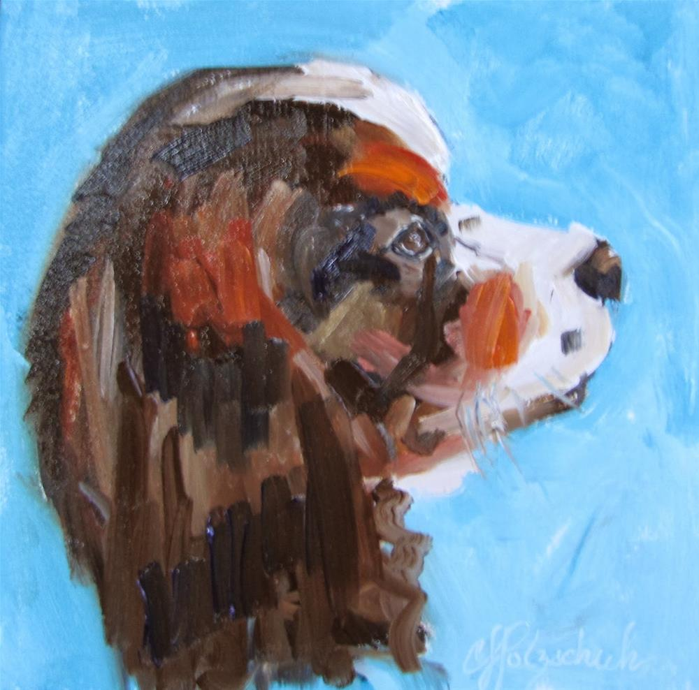 """Wesley"" original fine art by Christine Holzschuh"