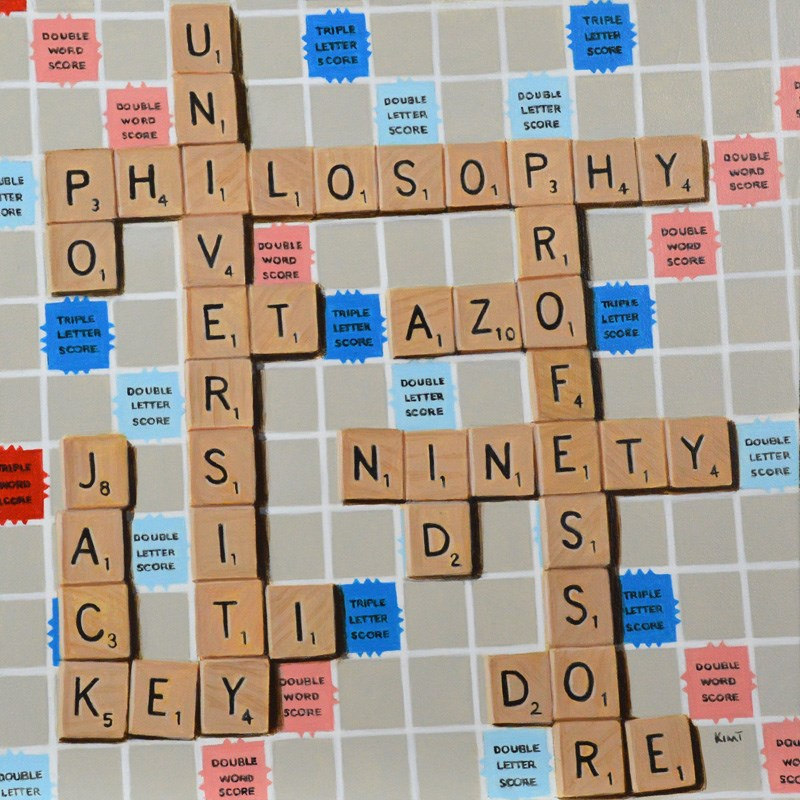 """Scrabble Commission"" original fine art by Kim Testone"
