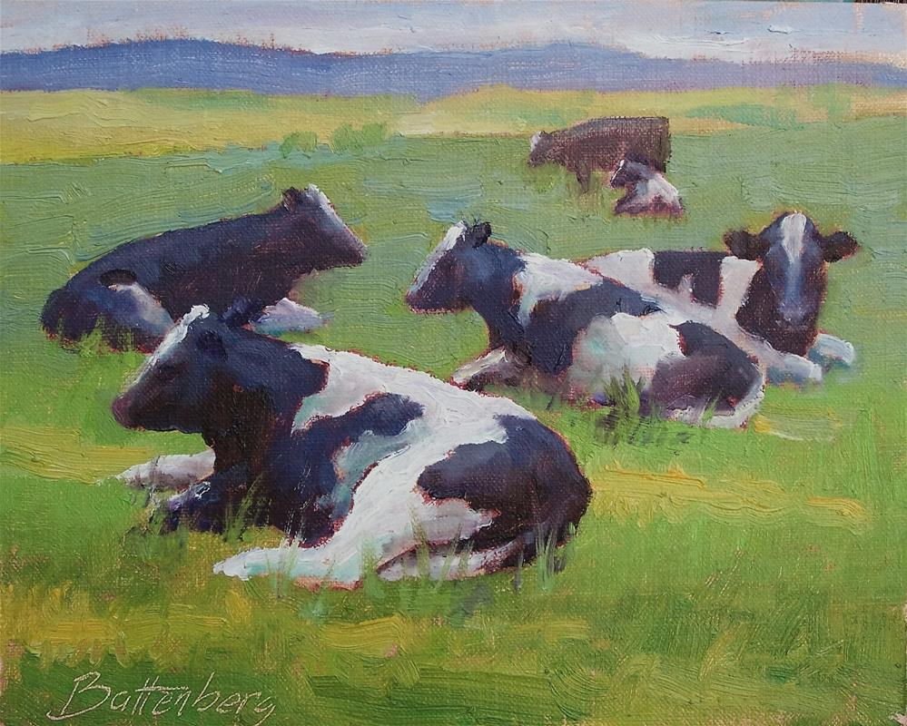 """Holstein Conference"" original fine art by Mike Battenberg"