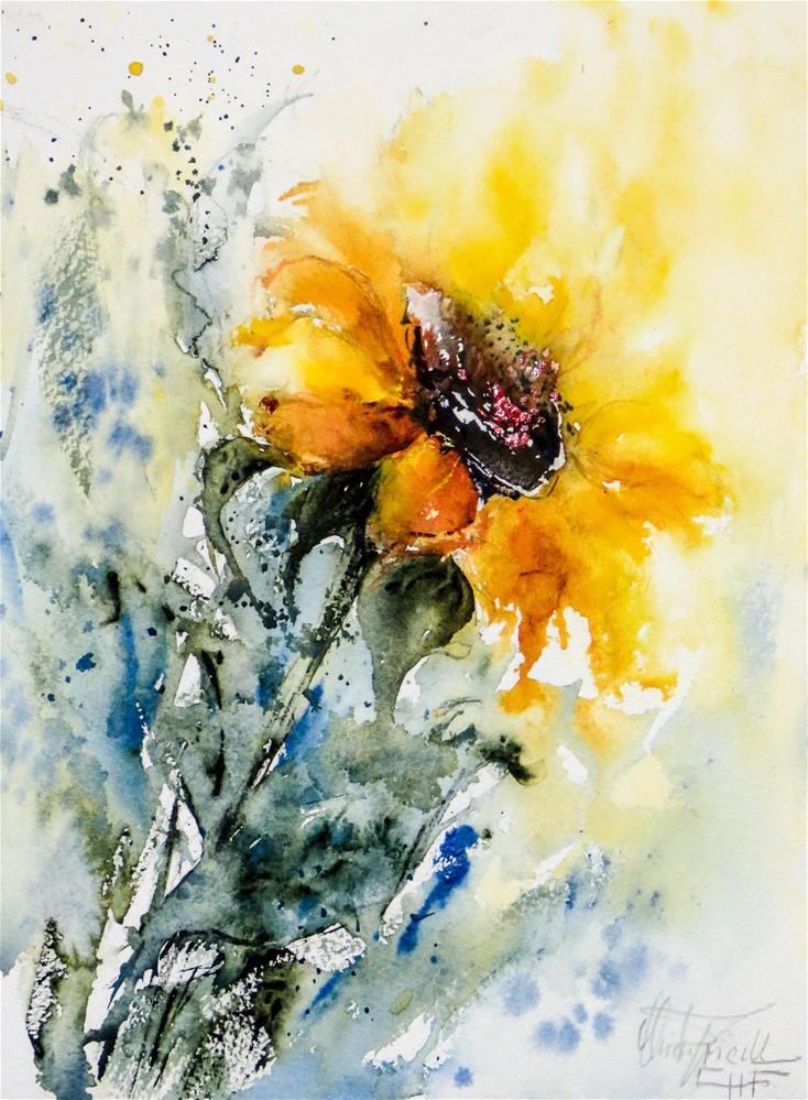 """Sunflower"" original fine art by Christa Friedl"