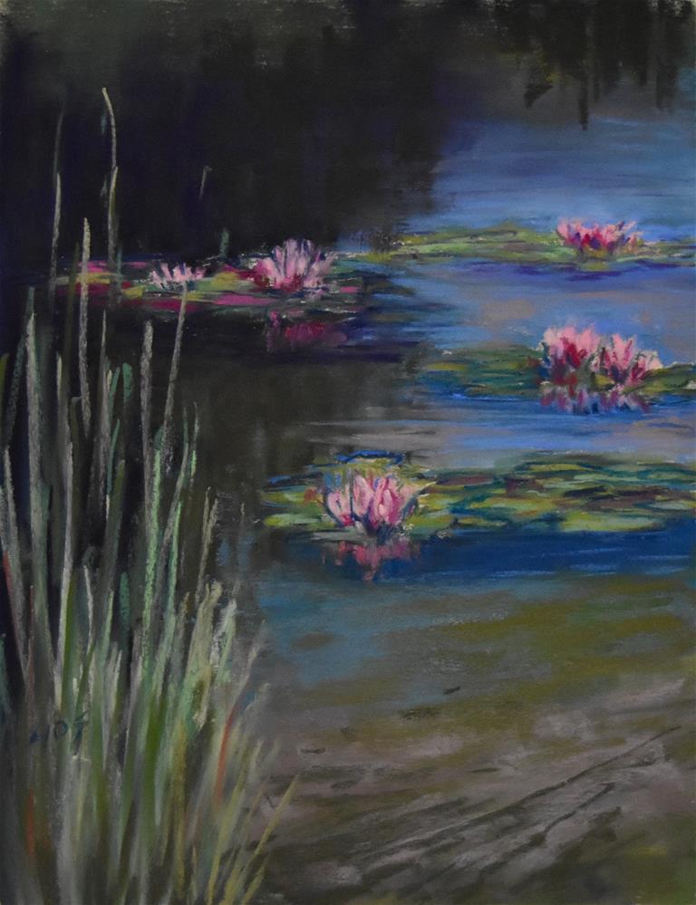 """Lilies"" original fine art by Alejandra Gos"