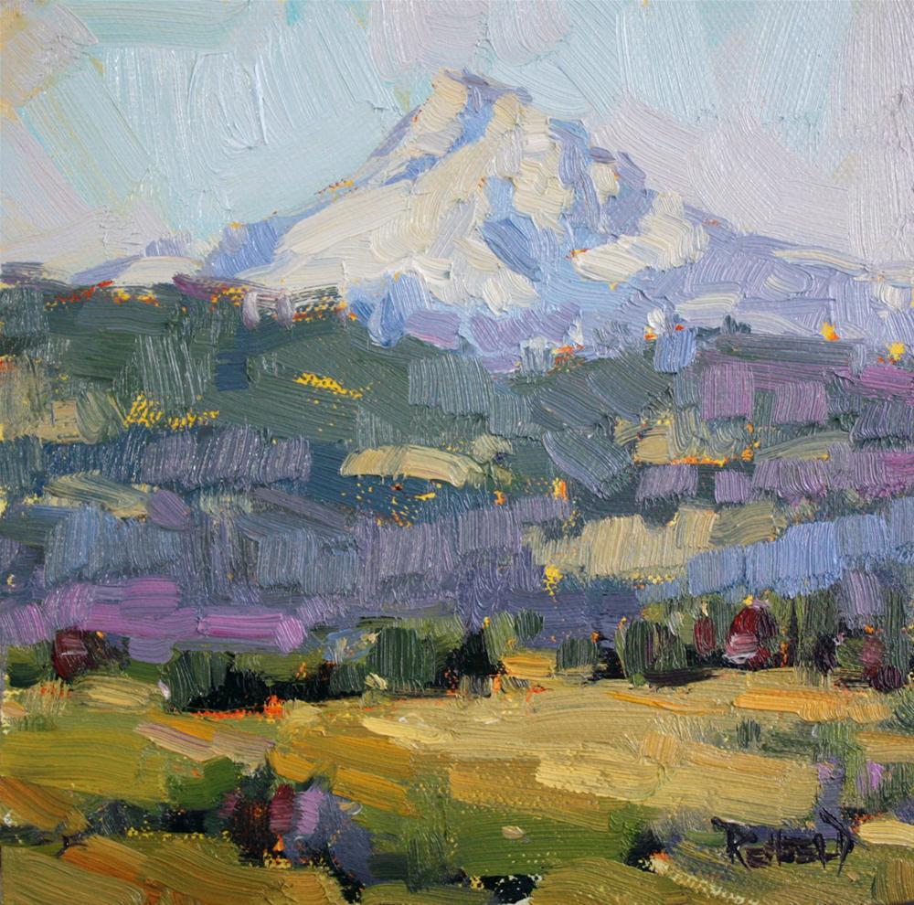 """""""Mt Hood in Spring"""" original fine art by Cathleen Rehfeld"""