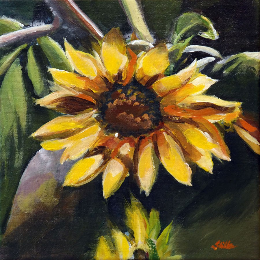 """1480 Lazy Sunflower"" original fine art by Dietmar Stiller"