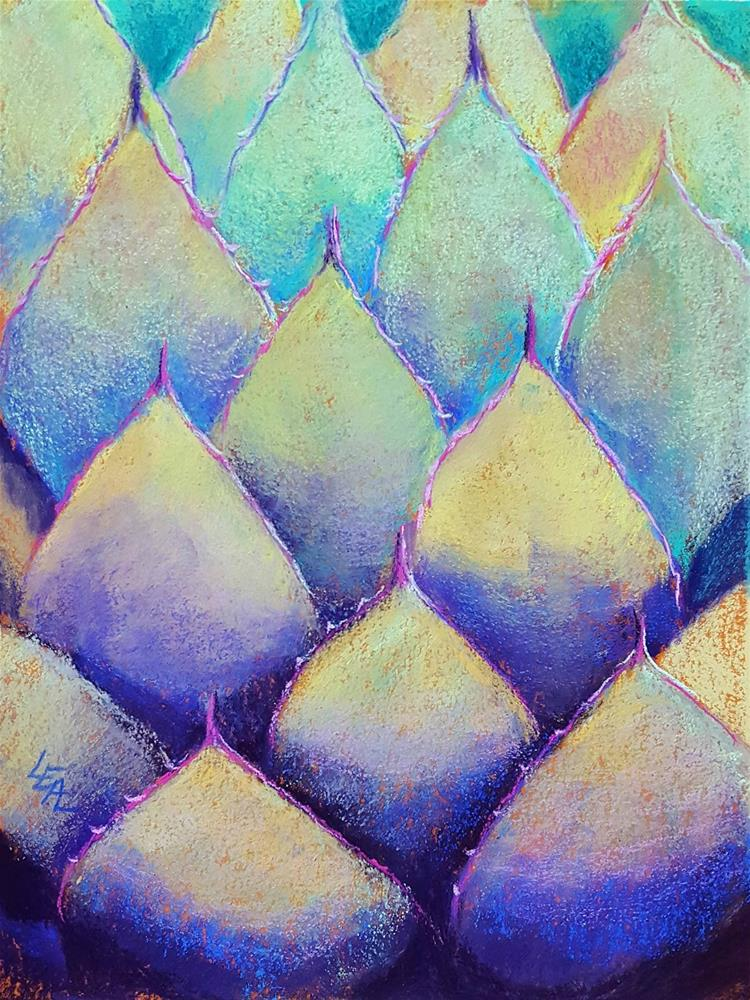 """Blue Agave Armor"" original fine art by Anna Lisa Leal"