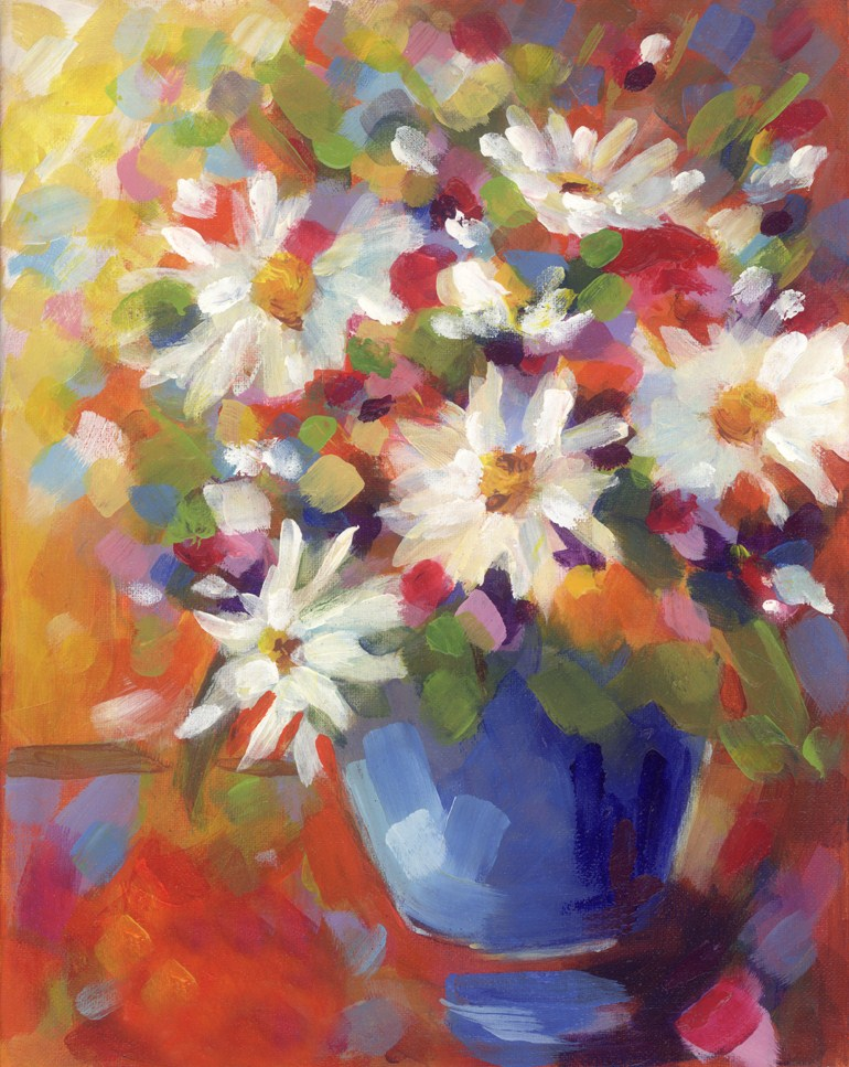 """Gala Daisies"" original fine art by Pamela Gatens"