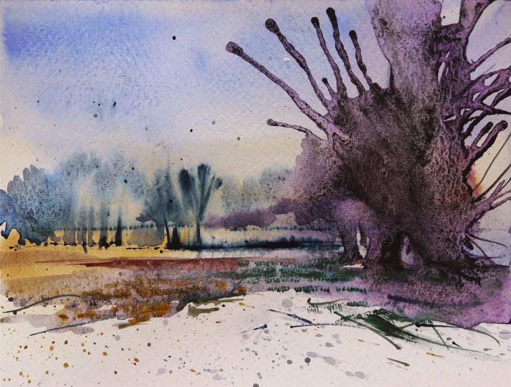 """winter landscape"" original fine art by Beata Musial-Tomaszewska"