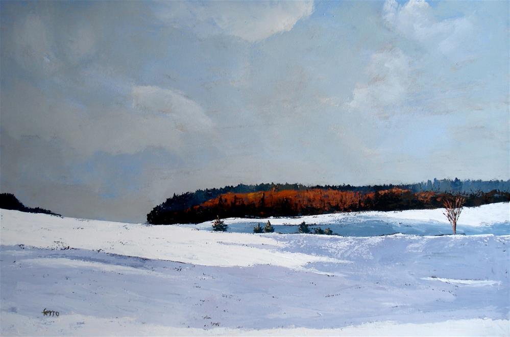 """Maine Winter"" original fine art by Susan Ferro"