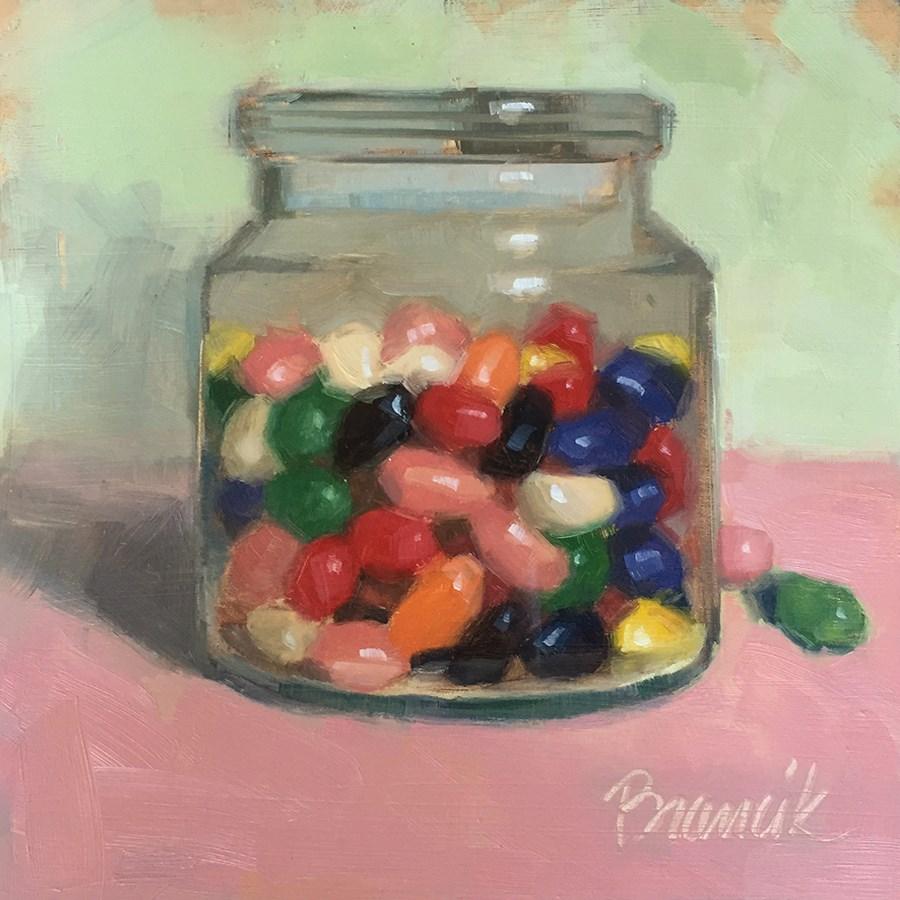 """Jellybeans and Bubblegum"" original fine art by Candace Brancik"