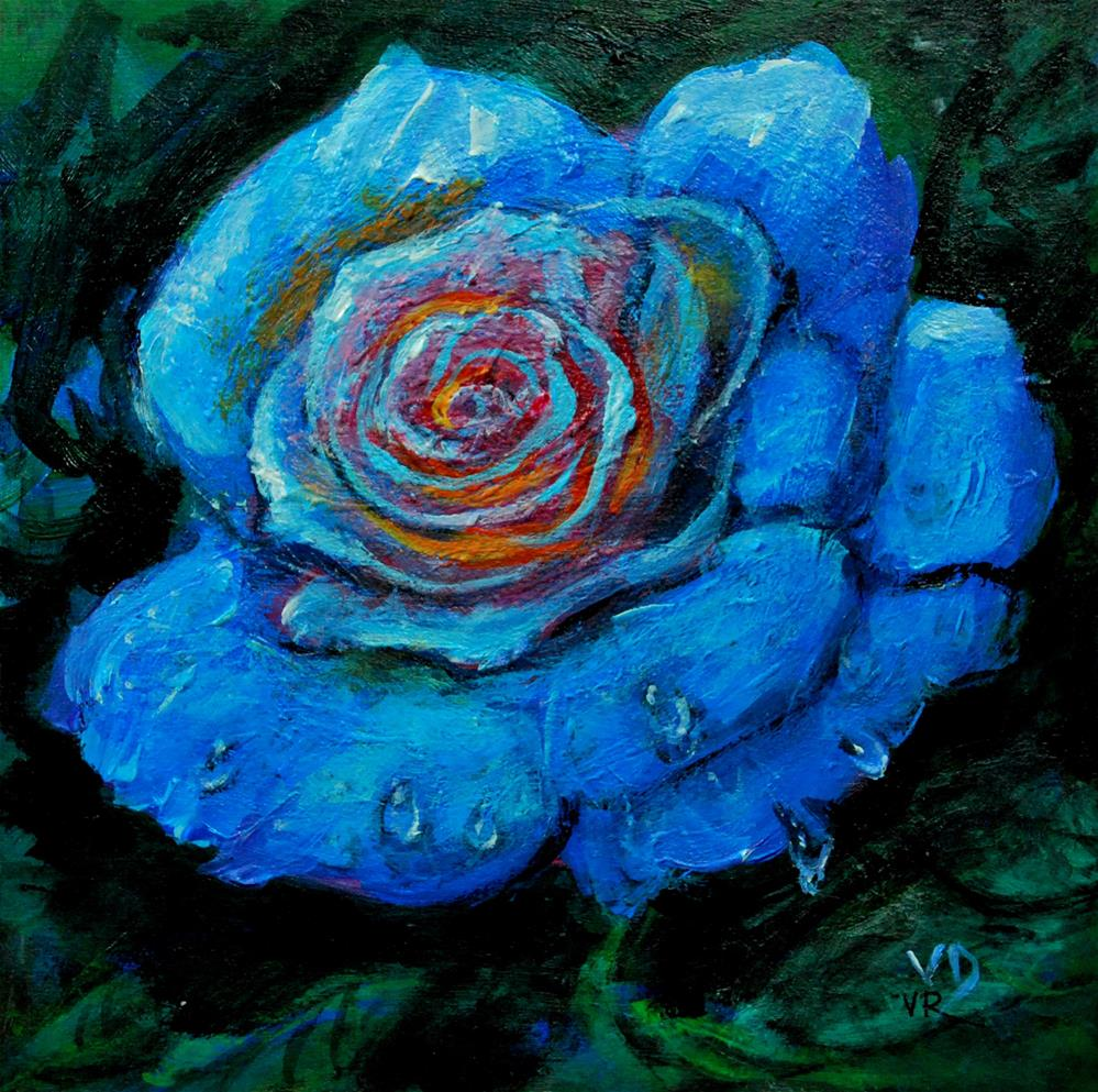"""blue rose"" original fine art by vishalandra dakur"