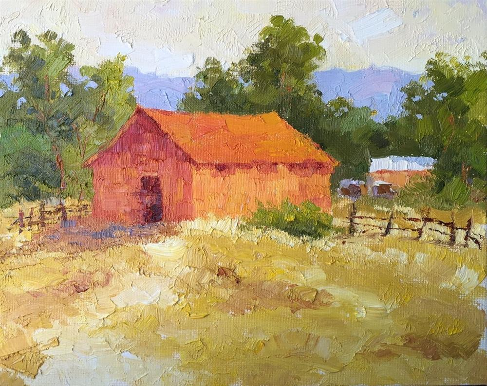 """Gold Hill Barn - Summer"" original fine art by Mark Bidstrup"