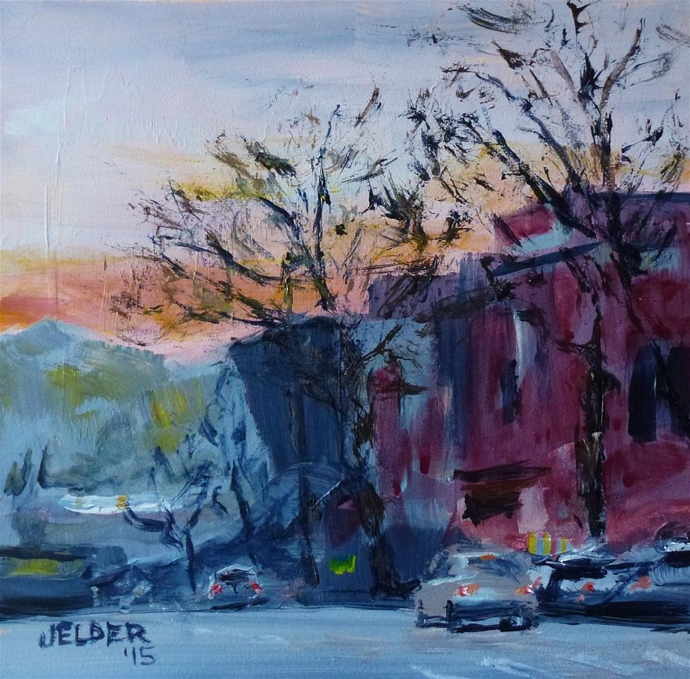 """Downtown"" original fine art by Judith Elder"