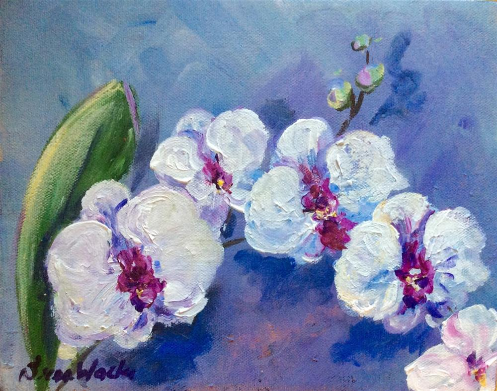 """Orchid beauty"" original fine art by Sonia von Walter"