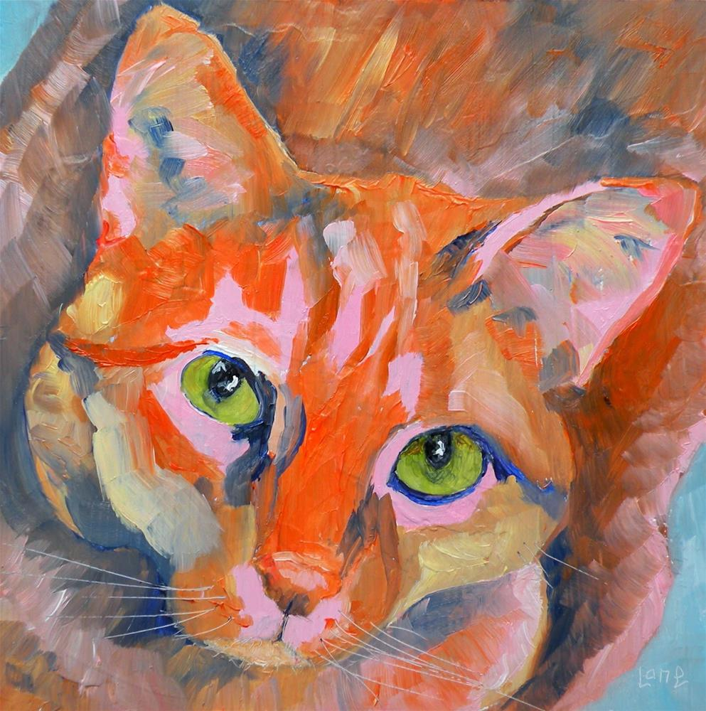 """PHEBE 33/100 OF 100 PET PORTRAITS IN 100 DAYS © SAUNDRA LANE GALLOWAY"" original fine art by Saundra Lane Galloway"