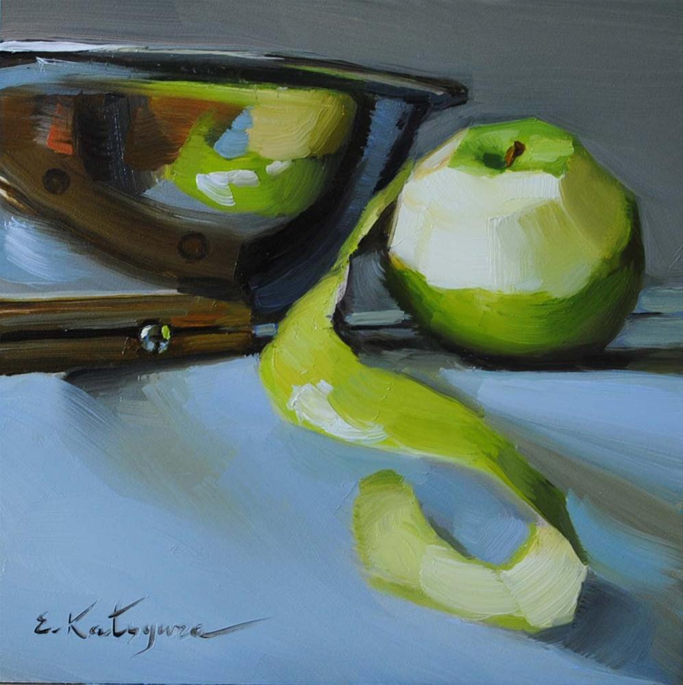 """Making Cider"" original fine art by Elena Katsyura"