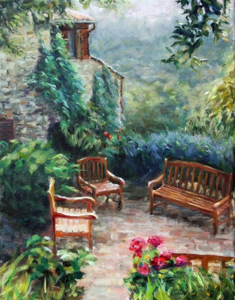 """Breakfast Nook"" original fine art by Cynthia Mahlberg"