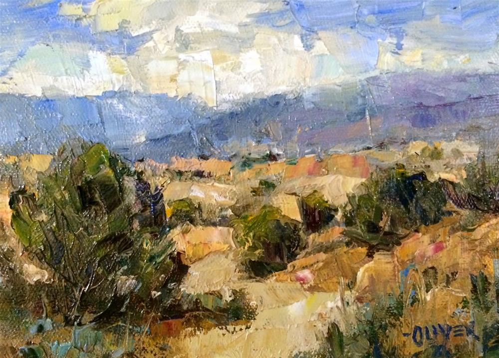 """Tesuque, New Mexico - Day 12"" original fine art by Julie Ford Oliver"