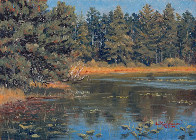 """Afternoon on Muddy Lake (New River ACEC, Oregon Coast)"" original fine art by Steven Thor Johanneson"