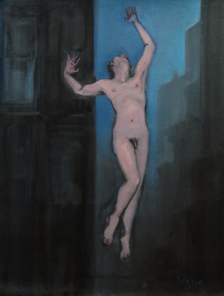 """Flying Nude"" original fine art by Angela Ooghe"