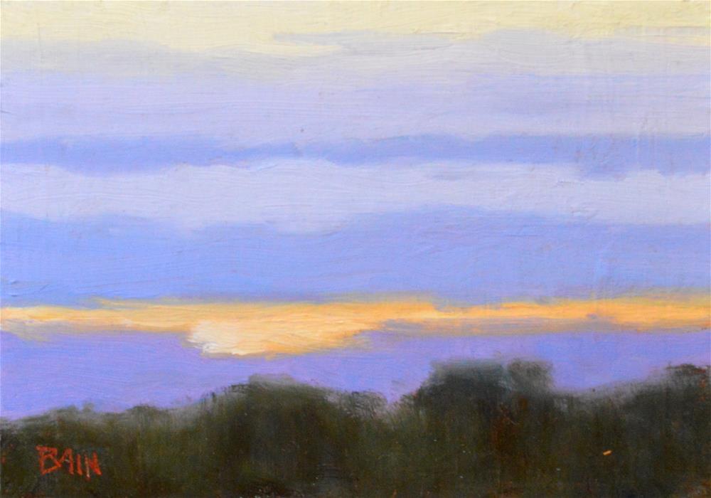 """Color Bands, Los Altos Hills"" original fine art by Peter Bain"