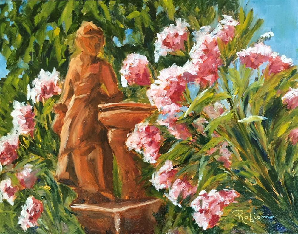 """Poolside Beauties"" original fine art by Renee Robison"