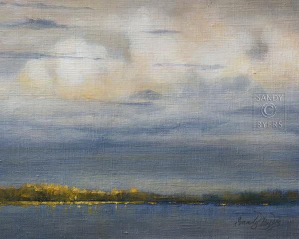 """Sunset on Camano Island"" original fine art by Sandy Byers"