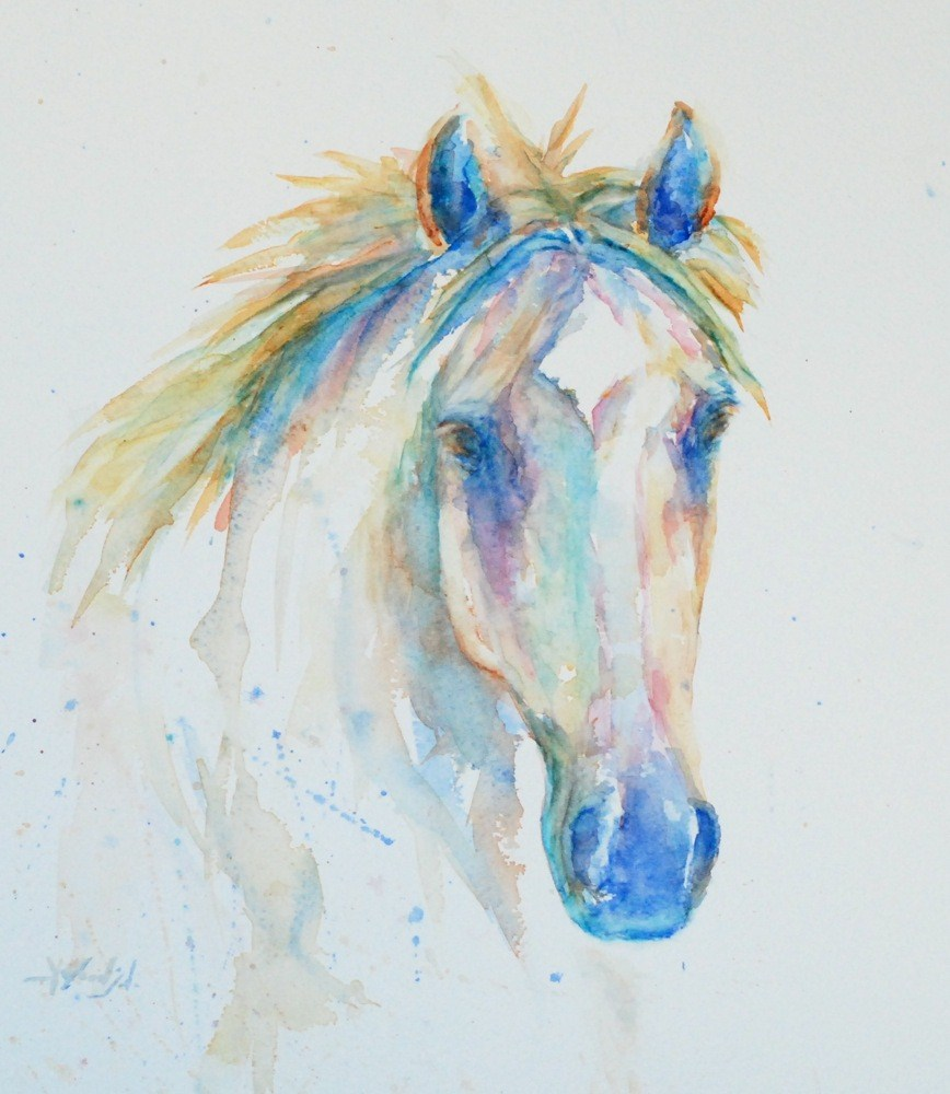 """watercolor horse"" original fine art by Vicki Wood"