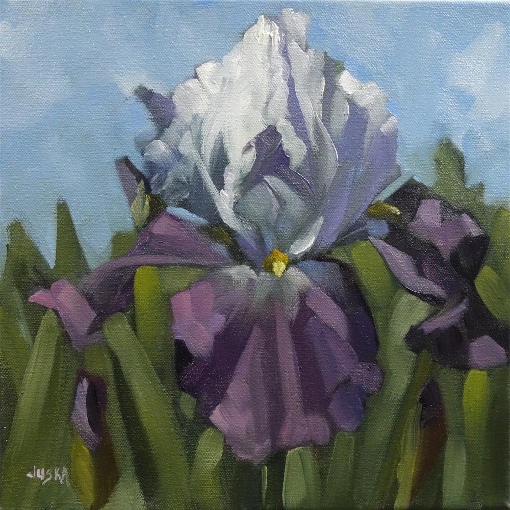 """""""Iris - Violet Tones"""" original fine art by Elaine Juska Joseph"""