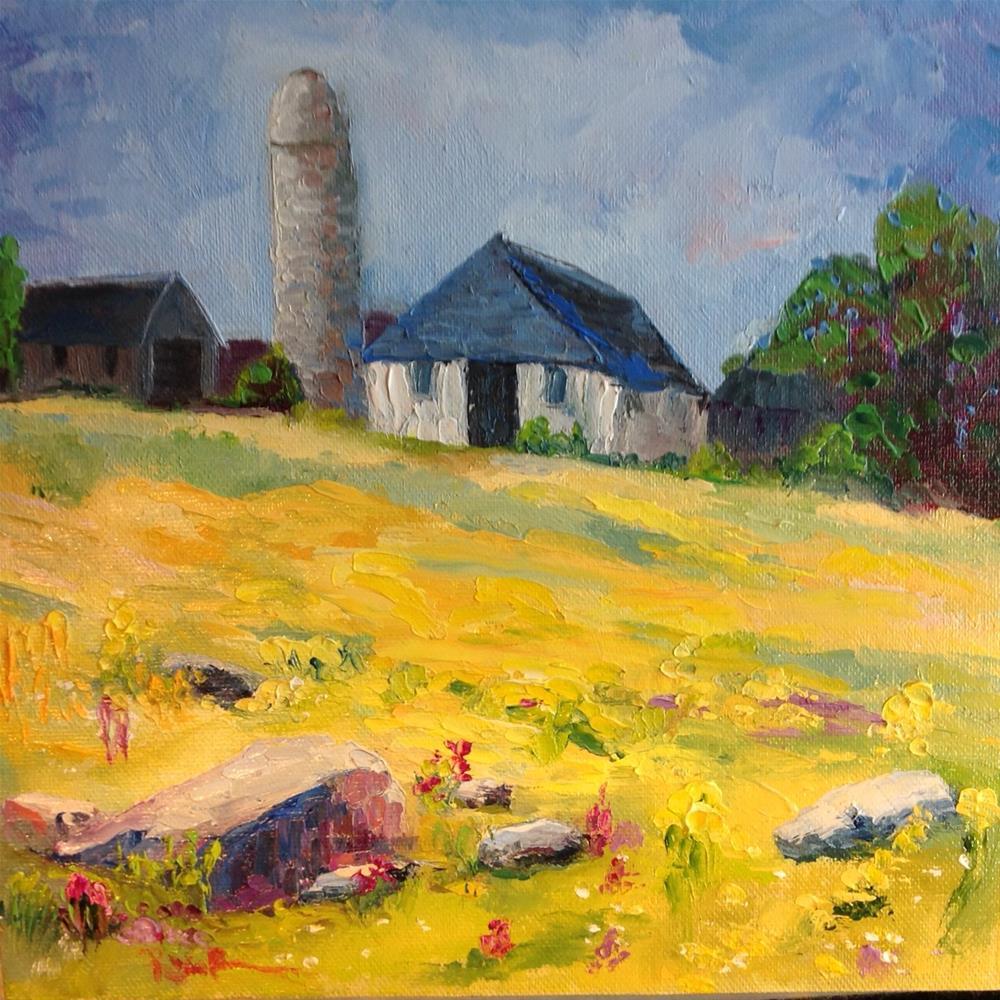"""""""Fields of Goldenrod"""" original fine art by Rose Brenner"""