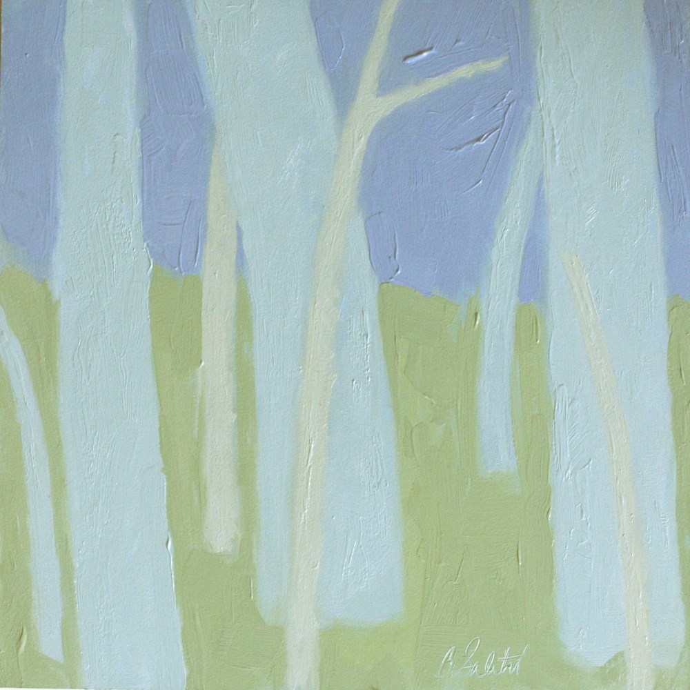 """trees without leaves I - variation 6"" original fine art by Barb Saletri"