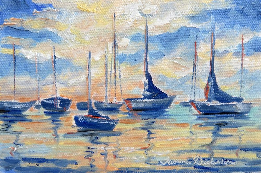 """Waiting in the Bay"" original fine art by Tammie Dickerson"