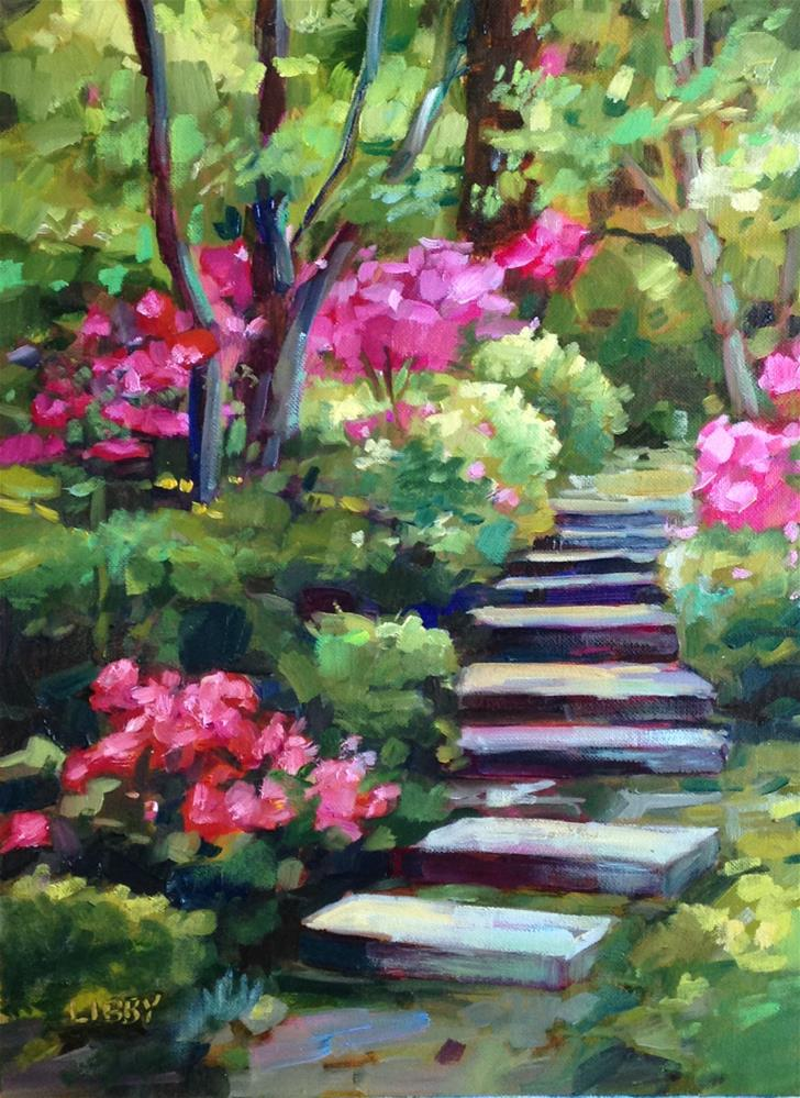 """Azalea Trail"" original fine art by Libby Anderson"