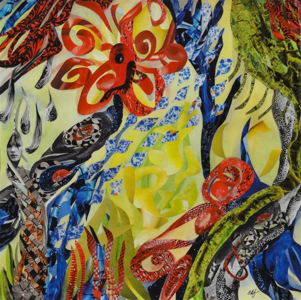 """Pinwheel Fantasy"" original fine art by Cynthia Frigon"