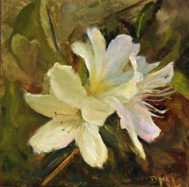"""Plantation Azaleas"" original fine art by Dorothy McLennan"