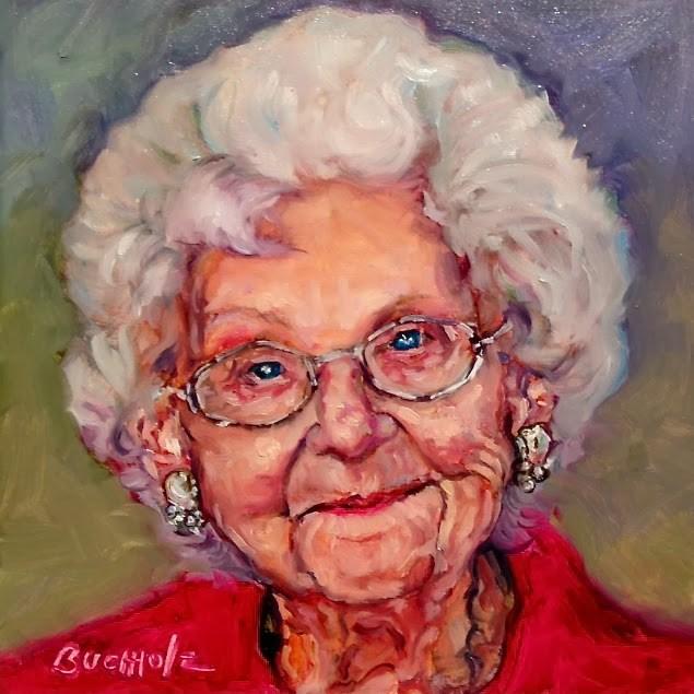 """Dorine"" original fine art by Terri Buchholz"