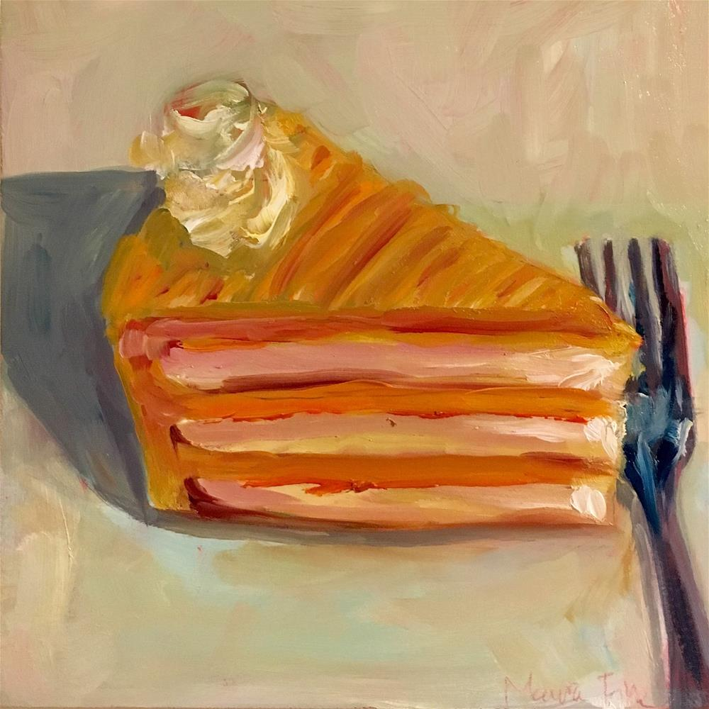 """Orange Sherbert Cake"" original fine art by maura fine"