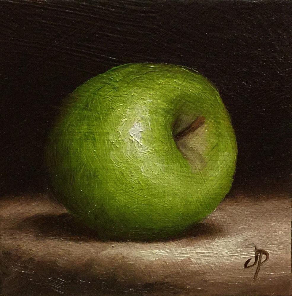 """Little Apple"" original fine art by Jane Palmer"