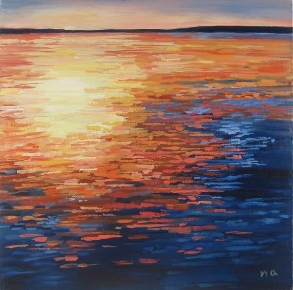 """Late Afternoon Hot Spot"" original fine art by Nicki Ault"